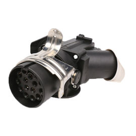 China 101100 Trailer Plug Socket Trailer Plug Adapter 13 Pin Black Color ISO12098 supplier