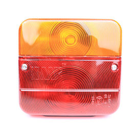 Red And Amber Color Trailer Lamps Waterproof Trailer Tail Lights PC Material