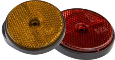 China Round Rear Trailer Reflectors Amber Side Safety Trailer Light Reflectors distributor