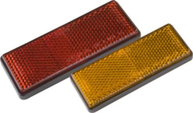 China Safety Warning Pmma Trailer Reflectors Square Shape Red Yellow Color distributor