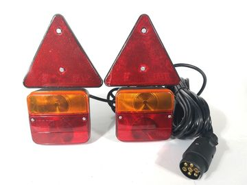 China Red Yellow Trailer Marker Lamps Stud Mount With Reflector And Magnet distributor